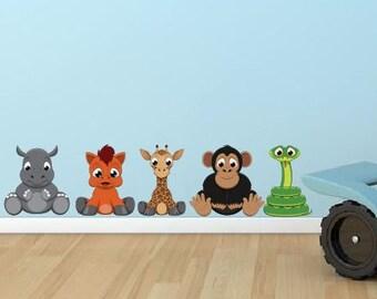 Zoo Animals Vinyl Wall Decal