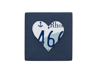 Gift for High School Grad - Long Distance Relationship Gift - Gift for Boyfriend - Gift for Girlfriend - Gift for Homesick - RI heart sign