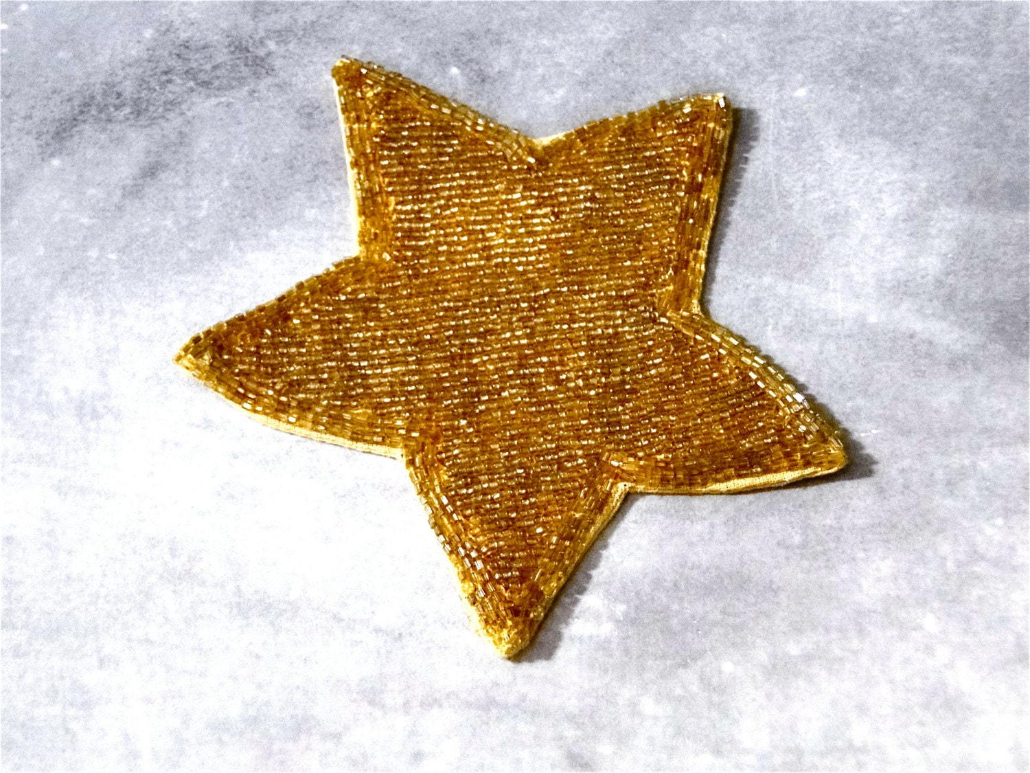 applique gold glass beaded star art deco vintage sewing supplies 1930 39 s from sueellensflair on. Black Bedroom Furniture Sets. Home Design Ideas