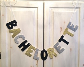 LARGE Bachelorette Banner / Bachelorette Party Decoration / Photo Prop
