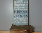 Jimmy Buffett quote -Son of a Sailor - Lyrics Board,Rustic, Distressed, Hand Painted, Wooden Sign- Heroes and Crooks