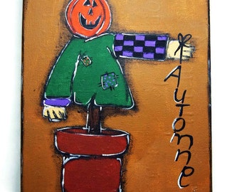 Scarecrow painting - Autumn decoration