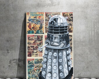 Doctor Who Canvas Print of The Dalek