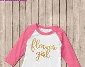 Flower Girl Shirt, Flower Girl Iron-On, Briday Party Shirts, Wedding Shirts, DIY Glitter Iron-On, DIY Shirts