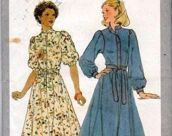"1970s Women's Stand-Up Collar Dress- Size 10, Bust 32 1/2"" - Simplicity 8335 uncut"