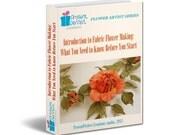 Fabric flower tutorial, ebook, flower making, flower iron, introductory ebook, flower making