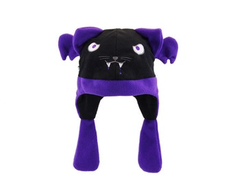 Pawstar VAMPIRE dead kitty cat hat You Pick Color fleece blood cosplay anime goth cyber Black Red Gray Purple warm halloween stitches 1244