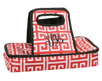 Monogram Casserole Carrier, Personalized Casserole Carrier, Monogrammed Casserole Carrier, Casserole Dish - Available in several colors!