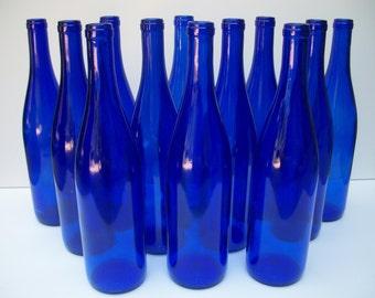 Cobalt Blue Wine Bottles