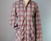Plaid Shirt / Vg 70s / Mo...
