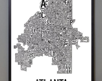 NEW! Atlanta Typographic Neighborhood Map
