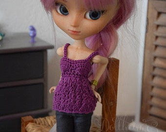 Pullip ~ Custom- crocheted top