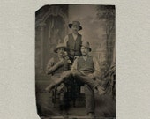 Tintype of Three Hard Working Men