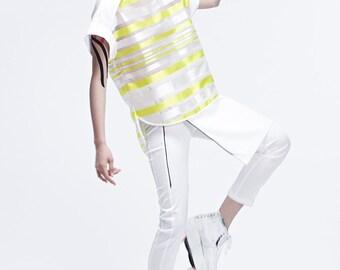 SALE 25% - Neon Stripe Top