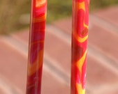 "Sedona Sunset 6"" acrylic hair stick (choose 1 or more)"