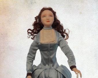 Art doll  Anastasia. OOAK handmade artist doll lady | El arte de la muñeca