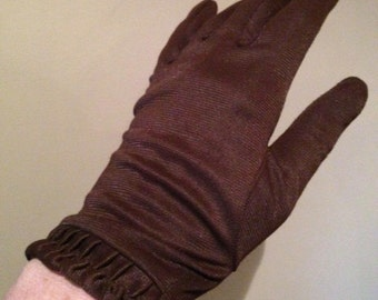 Vintage 1950s Coco Brown 2-button Length Gloves