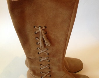 1960s Suede Boots with Tassel - 7.5