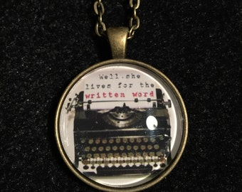 Pop culture necklace: Morrissey - Girl Least Likely To - Well, she lives for the written word