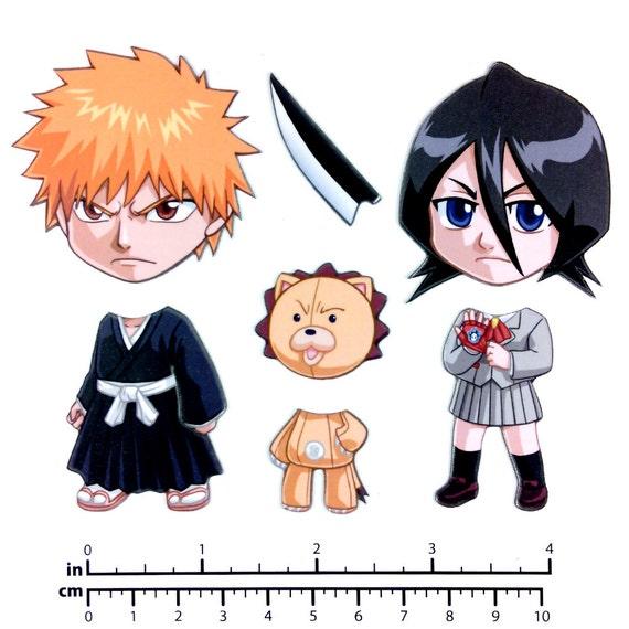 Mix and Match Magnets: Ichigo, Rukia, Kon (Bleach Set)