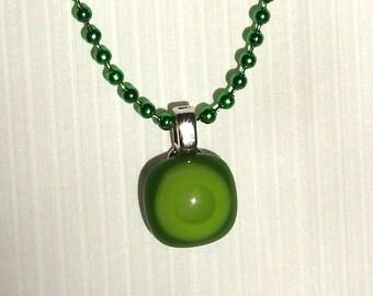 Green Bullseye Necklace