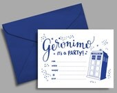 Doctor Who Party Printable  INVITATION ONLY
