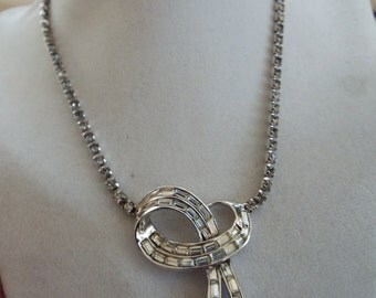 "art deco  rhinestone baguette chocker necklace  16"""