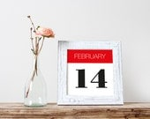 Engagement Date Poster Printable Save the Date Sign Personalized Wall Art Wedding Last Minute Gift Important Date