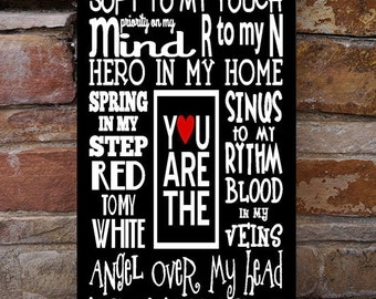 You are the...Nurse love wood sign, RN,  family, couples sign