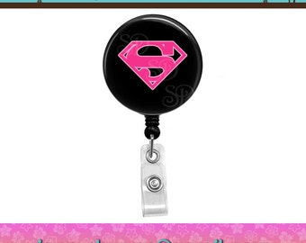 Super Girl Superhero Action Super Hero Button Retractable ID Badge Reel. Custom Requests Welcome. See Announcements for Discount Coupon.