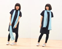 Bright Chiffon Scarf, Sweet Streets, Spring Summer Scarf, Pure Color Scarf