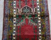 Konya Kecimuhsine Village Prayer (Ceyrek) Rug