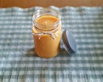 Fresh Peach Scented Candle // 16 oz. Mason Jar