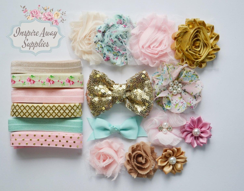 shabby chic headband kit 4 make 12 diy headbands baby shabby chic headband kit make 12 diy headbands baby
