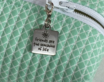 Friends Zipper Charm, Friends Zipper Pull, Friends