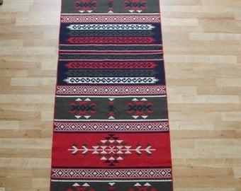 Long Kilim Runner - New Reversible Long Turkish Kilim Runner Rug - 300cm/3meters long
