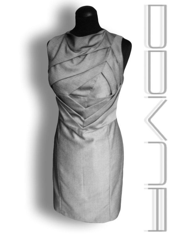 Origami dress- Unusual shift dress- Art to wear dress- Unusual wedding dress- Draping dress *FREE Shipping*
