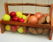 Basket/Storage Bin (BURLIN)Handcrafted Basket, Hod Basket, Picnic Basket, Vegetable Basket, Medium Size