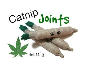 Cat Toys - Felt Catnip Joints - Set Of 3