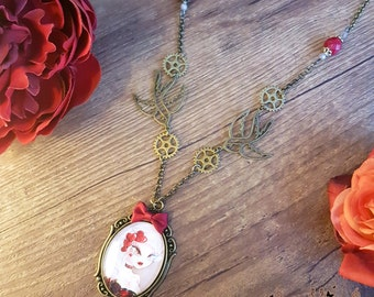 Handcrafted  Lady Valentine necklace // burlesque steampunk  style