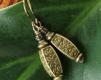 Boho dangle earrings antiqued bronze