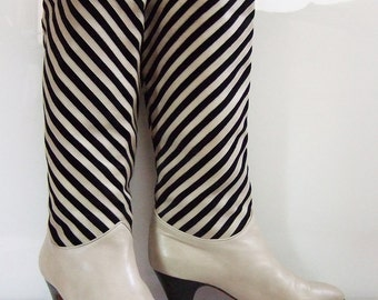 Bottazzin striped leather and suede boots | size 38 1/2