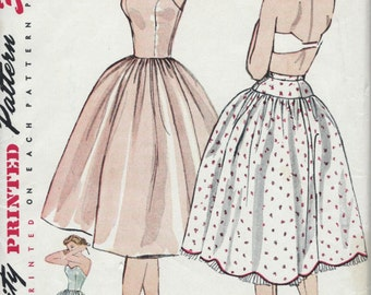 Vintage 1950's Petticoat and Slip Sewing Pattern Simplicity 8425