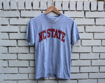 Vintage NC STATE Shirt Made In USA North Carolina State University College Wolfpack Collegiate Shirt