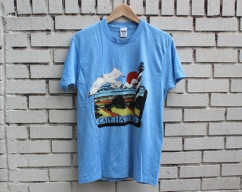 Vintage CAPE HATTERAS Shirt North Carolina Beach Outer Banks Ocean Sand Sea Gulls nc tarheel
