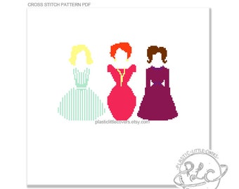 Ladies of Mad Men Cross Stitch Pattern. TV Sixties Retro Cross Stitch Pattern Digital Download PDF.