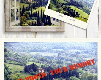 Personalized Window View of your Landscape Photo Printed on Canvas - Memory Gift Idea