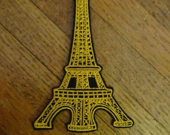 Eiffel Tower Embroidered Patch. Paris. France. Boho. Travel. Europe. DIY. Iron On or Sew On. Upcycle. Applique.