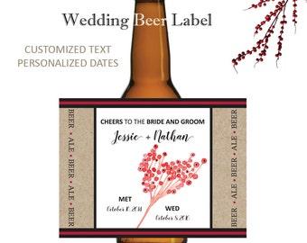 Wedding Beer Labels - Wedding Beer Label - Custom Beer Labels - Custom Beer Label - Wedding - Printable - Beer Labels - Beer Bottle Labels