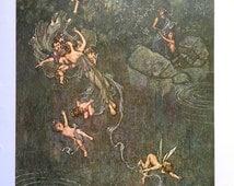 1914 W HEATH ROBINSON A MIDSUMMER Night's Dream Titania Print Ideal for Framing